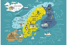 illustrated maps-scandinavia