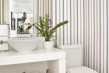 Lavabo papel parede