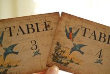 table numbers shower