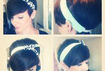 Pixie/head bands hair styles