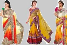 nice yellow sari in your wardrobe / Buy nice branded yellow sari in your wardrobe Online in India.....http://fashion-for-women-2012.blogspot.com/2014/05/yellow-sarees-for-bright-and-lively-look.html