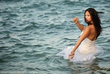 Trash the dress wedding photos