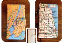 iPhone 4/5 map flip case / Blog pictures / by Craft Attitude