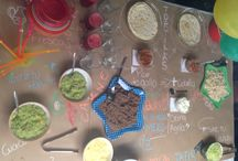 Mesa de cumpleaños / Linda mesa con varios toppings