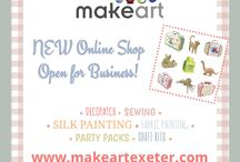 MakeArt Online Shop / All the great crafty things you can find in the MakeArt Web Shop including Decopatch, craft kits, party packs and more!