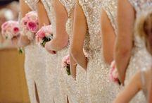 wedding, bridesmaid and flower girls
