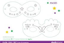 Printables for Kids / Celebrate different holidays with fun printables for Valentine's Day, Mardi Gras and Mother's Day.