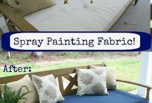 Material spray paint DIY