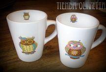 Tazas / Tazas de ceramica decoradas
