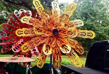 Folk Art / folk art by Raymond Guest artist at Recycled Salvage Design www.recycledsalvage.com specializing in original one of a kind metal art for the garden and home. #scrapmetal #metalart #folkart #outsiderart