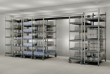 High-Density Storage Systems / Top-Track and qwikTRAK Systems are available with Super Erecta, Super Adjustable-Super Erecta, Super Erecta Pro, MetroMax i and MetroMax Q Shelving