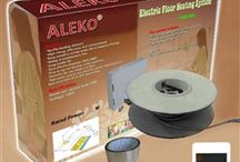 Floor Heating / Aleko Products presents electric tile radiant floor heating system. This is a high quality product easy to install. We at Aleko Products, provide you full technical support. The efficiency of heat energy emitted is very high.