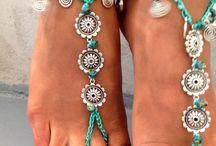 barefoot sandal macramé