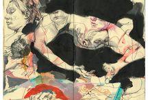 Art Journals, Books & Paper art
