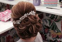 Curly up do (wedding hair)