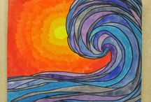 WAVES....warm and cool colours