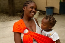 Haitian Mothers and Babies / As part of our Mother-to-Mother program, Rockin' Baby visits Haiti every year to provide slings for mothers in need and teach them how to use them as they try and rebuild their country.