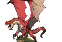 Monster and dragon