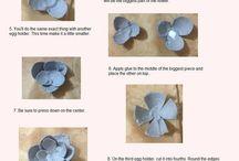 fiori di carta di stoffa e secchi