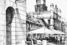 Рисунок город