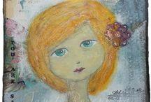 Janet Rozenberg art / Mixed media, paintings, drawings