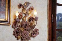 Wrought iron wall lamps / Handmade wrought iron wall lamps