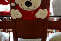 Cubre sillas navideñas