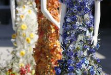 Floral dresses / Dresses made out of real flowers