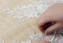 Handmade lace sewing