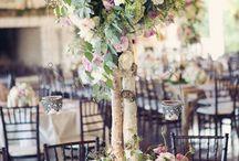 Beautiful Blooms: Birch Tree Centerpieces