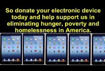 Free Our Landfills and Donate Your Old Electronic Devices / Donate your old Ipod, Ipad, digital camera, video camera, e-Reader and tablets to The Gift Of A Helping Hand Charitable Trust Electronics Collection Drive.  Your donations will support us in our cause of eliminating hunger, poverty and homelessness in America.  Every electronic device donated to us will help clothe, feed and shelter another homeless mother, child or individual.