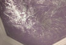 Purple Finishes / Purple finishes for walls, ceilings and furnishings #fauxpainting #custommural #marblefauxfinish #foilfauxfinish #purple