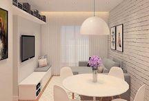 Sala de estar linda e pequena