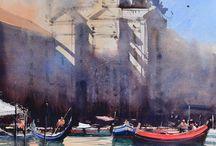 Castagnet Alvaro artist / acquerelli