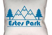Estes Park, Colorado Throw Pillows