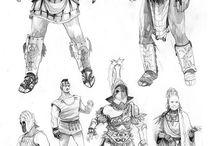 Roman/grecce fighters and gladiators