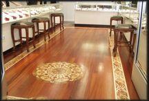 Interior / Wood flooring inlays marquetry