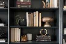 / styling bookshelves /