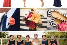 B Wedding / Modern Vintage - Navy, Coral, and Whites  / by Kate Klein & Co
