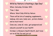 Spa Day Event! / Join us at our Wild by Nature West Islip location for a fun filled afternoon, samples, demos and education!