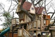 Udderly Smooth Tree Houses / Be prepared to be inspired by these magical tree houses that you can live in and or play in.