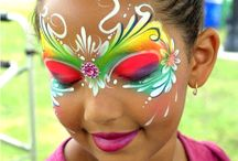 Face paint fascination / Face paint easy toddlers babies simple boys girls character body paint special occasion festival Halloween birthday Christmas party body art makeup