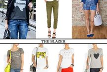 Closet - Graphic Tee Outfits / How to wear a graphic tee to work