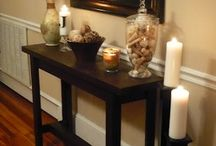 console table with life