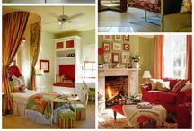 Ideer til indretning med røde og grønne farver