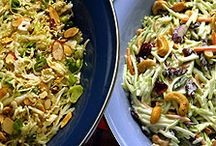 Asian Slaw Recipes / ONE of the ways we work at Canopy Rose is to research a dozen or so recipes for a particular food item. We look for recipe combinations that sound really good to us, then we go off and do our own thing and create something uniquely our own. I love the way  that with Pinterest I can simply pin the recipes and share them with others, while also promoting the different sites where the recipes came from... what a fabulous win-win-win for all of us!
