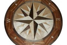 Compass Rose Floor Medallion / Hardwood floor medallions