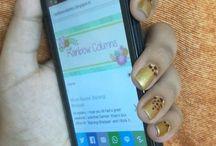 Nailarts / Easy NailArt Ideas!  #nails #nailart #nailarts #DIY #beauty #Style #fashion #women #girls #swag #easy #easynailart #Mani #manicure #white #Gold #Black #Maroon