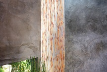 Japanese Style / Serene, balance, peace and simple lines. Abundant light and sliding translucent screen doors. Natural colors inspired by nature. Water features and infused living greenery. wood and bamboo furniture, Tatami mats, sculptures.