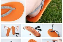 DIY Footwear / Flip flop refashioning, etc